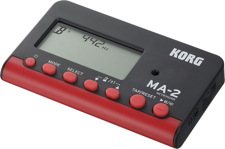 Korg MA-2 black/red, DigitalMetronoml mit Ohrhöreranschluss, Display, Speaker