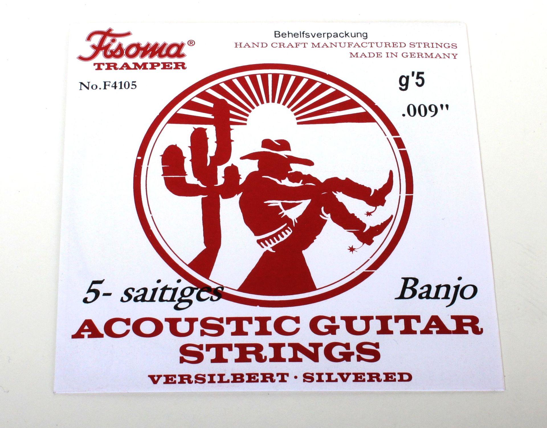 Fisoma Banjo Saiten Satz F4100 für Bluegrass-Banjo