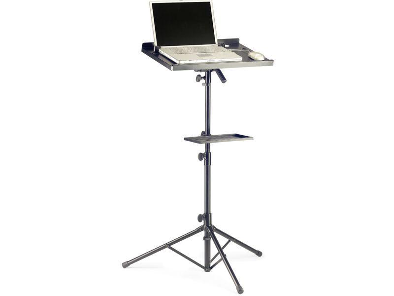 MHM COS 10 BK Laptopständer mit Ablage, Notebookstativ