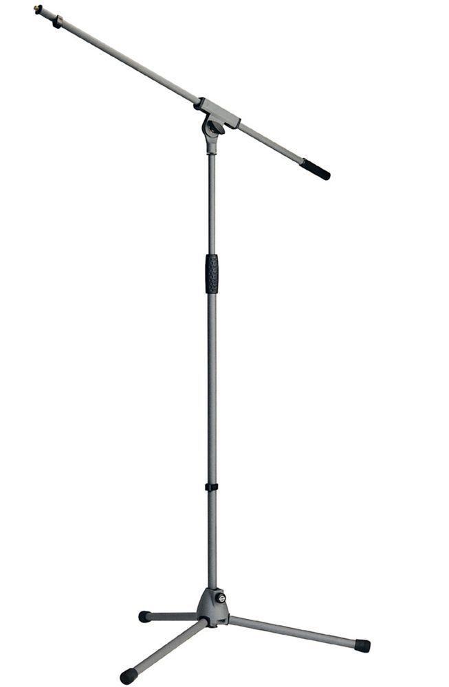 "K&M 21060 Mikrofonstativ mit Schwenkarm, ""Soft-Touch"", Basaltgrau"