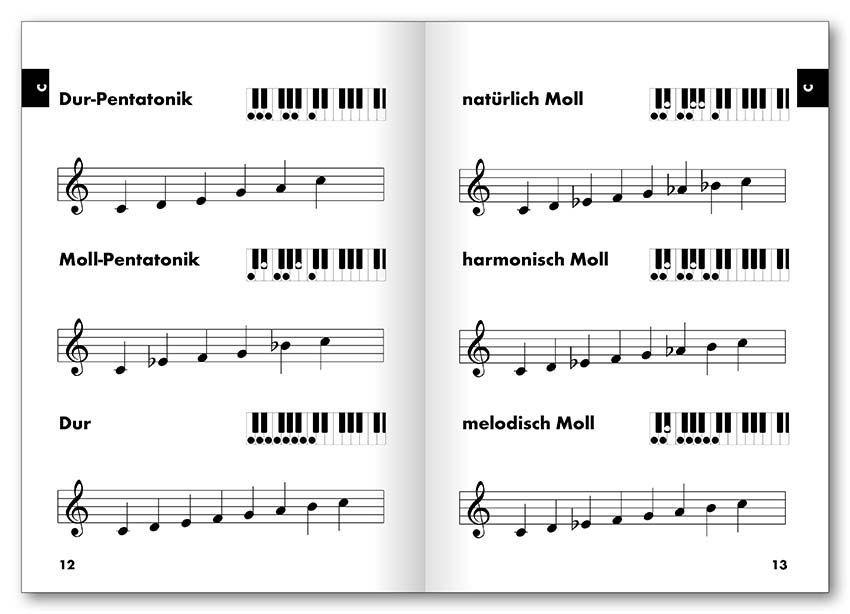 Noten easy Chords Keyboard Tonleitern & Akkorde Voggenreiter 0322