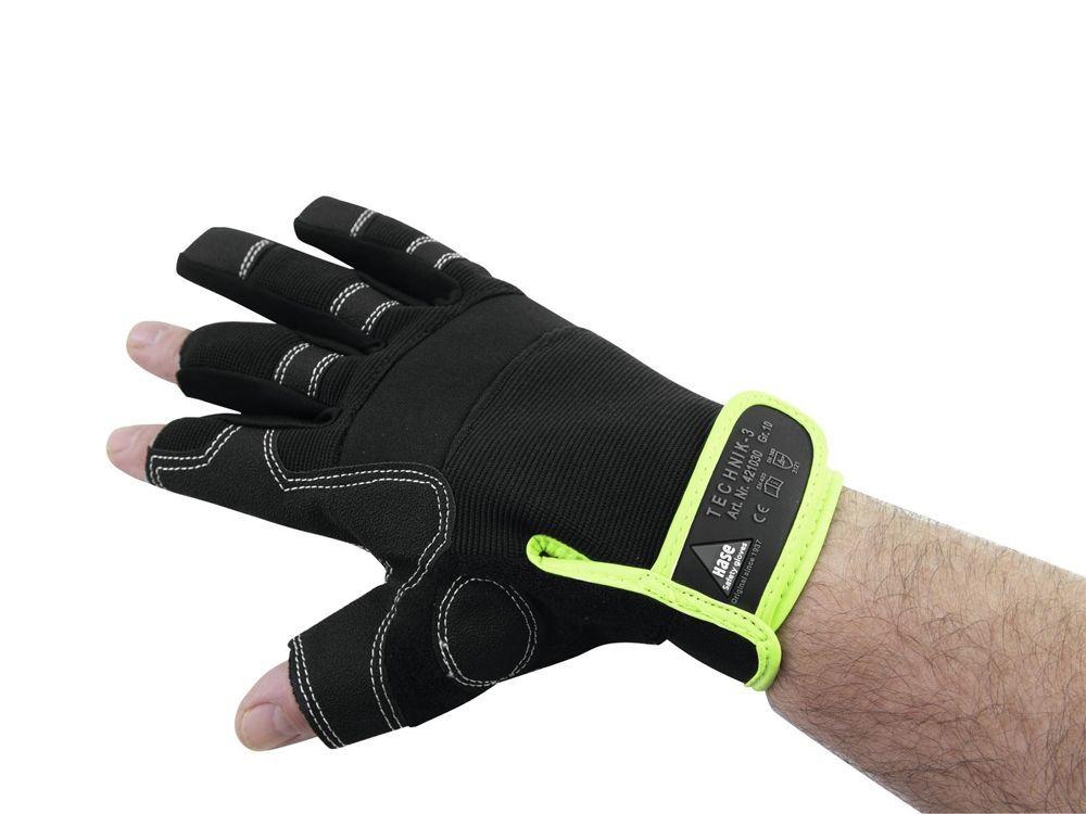 HASE Handschuhe 3 Finger, Größe XL  Roadie-Handschuhe