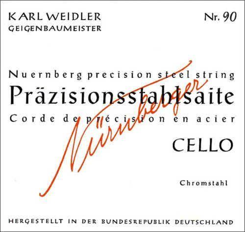 Karl Weidler Cello 4/4 D Saite Stahl mittel