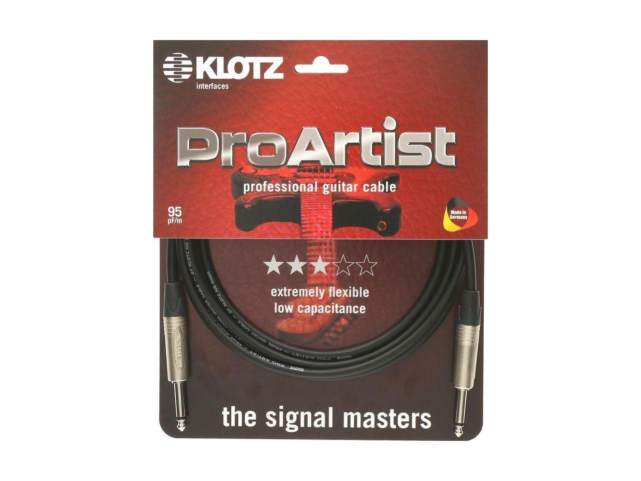 Klotz Gitarrenkabel Pro Artist 6m, 6,3mm Klinke/Klinke PRON060PP
