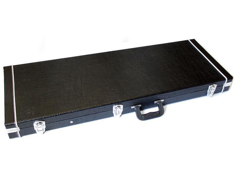 E-Gitarrenkoffer für ST-Form, Rechteckkoffer mit Plüschfutter für E-Gitarre