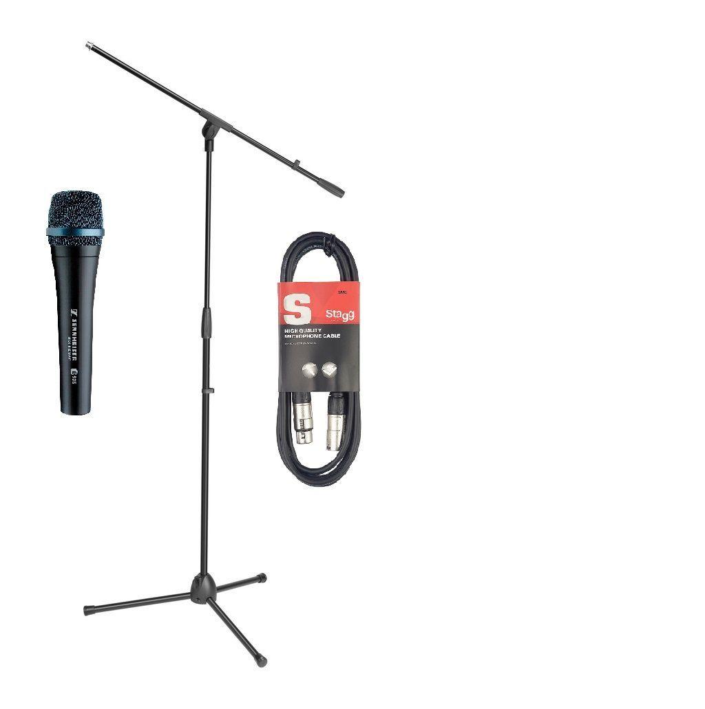 Sennheiser e935 Mikrofon-SET inkl. Mikrofonstativ + 10m Mikrofonkabel