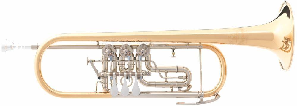 B&S 5/3-TR-L B-Konzerttrompete, Trigger, incl.Etui u. Zubehör