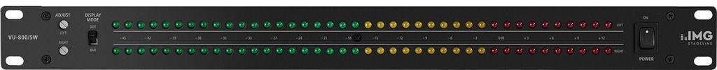 IMG Stage Line VU-800/SW  Audio-dB-Anzeige, VU-Meter inkl. Netzteil