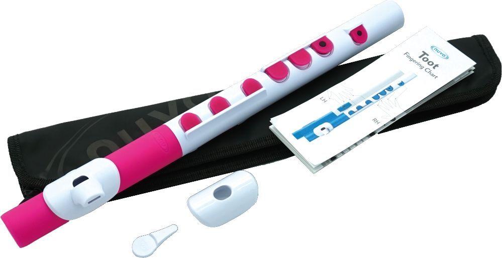Kinder-Querflöte NUVO TOOT 2.0 weiß-pink, für Kinder ab 4 Jahren