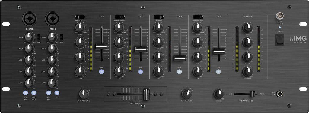 """IMG Stage Line MPX-44/SW 19"""" 6-Kanal DJ-Mixer"""