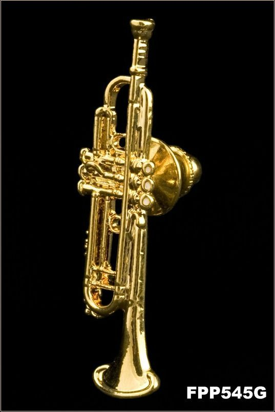Anstecker Trompete Bach FP-Schmuck #545 Musikergeschenke Musikerschmuck