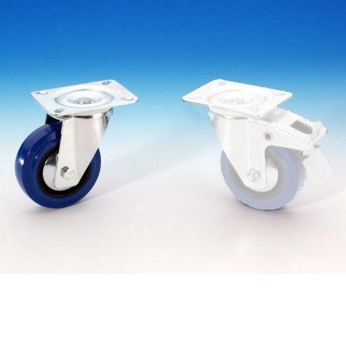 Adam Hall 372151 Blue Wheel Lenkrolle 100mm ungebremst blau, Räder für Racks