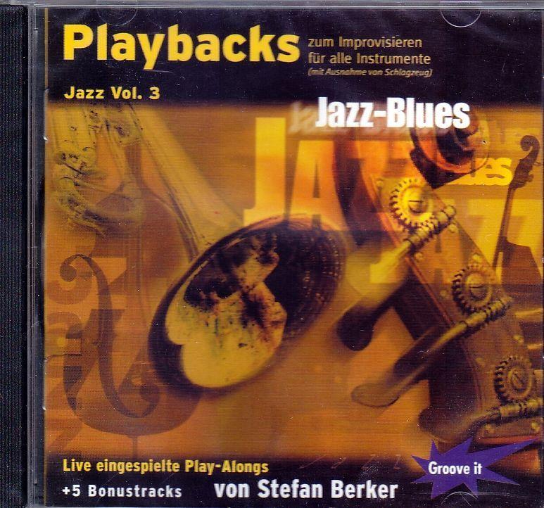 CD Jazz Playbacks 3 zum Improvisieren für Einsteiger Stefan Berker Jazz-Blues