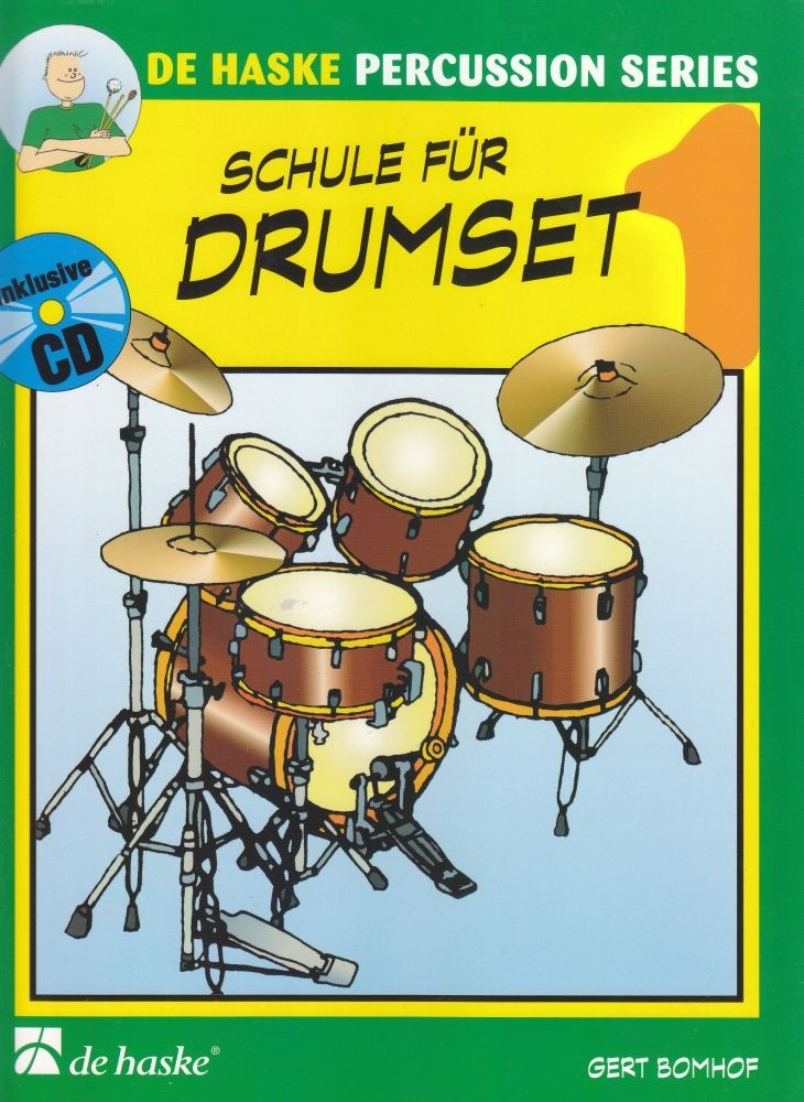 Noten Schule für Drumset 1 Schlagzeugschule für Kinder HASKE 991682 incl. CD