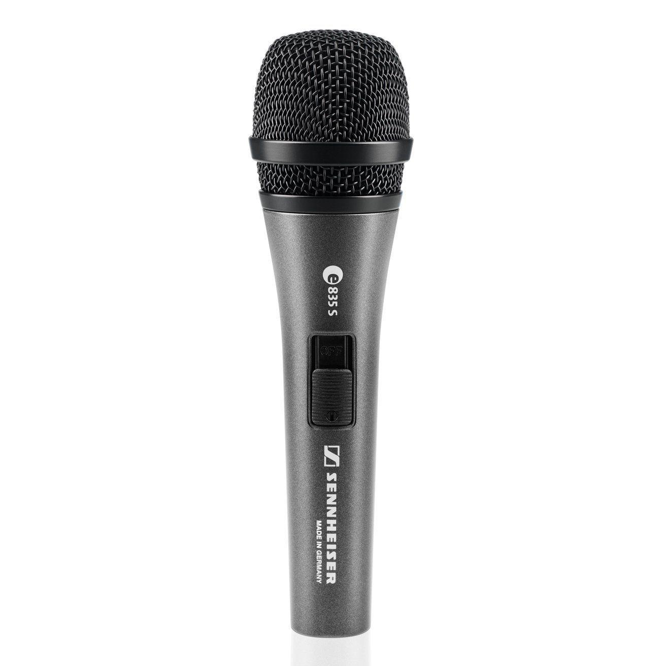 Sennheiser e 835 S Gesangsmikrofon, dynamisch, Niere, Schalter