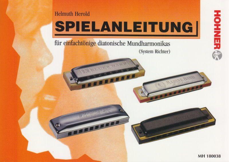 Schule Spielanleitung für einfachtönische Mundharmonikas Helmut Herold 180038