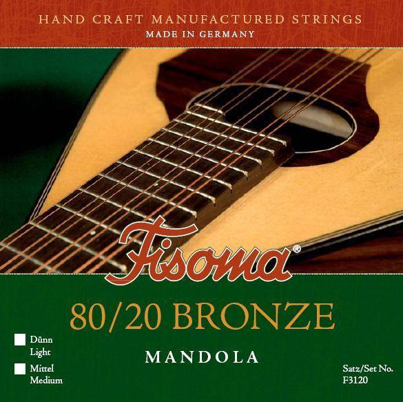 Fisoma Mandola-Saiten 80/20, geschliffen mit Schlinge, Bronze