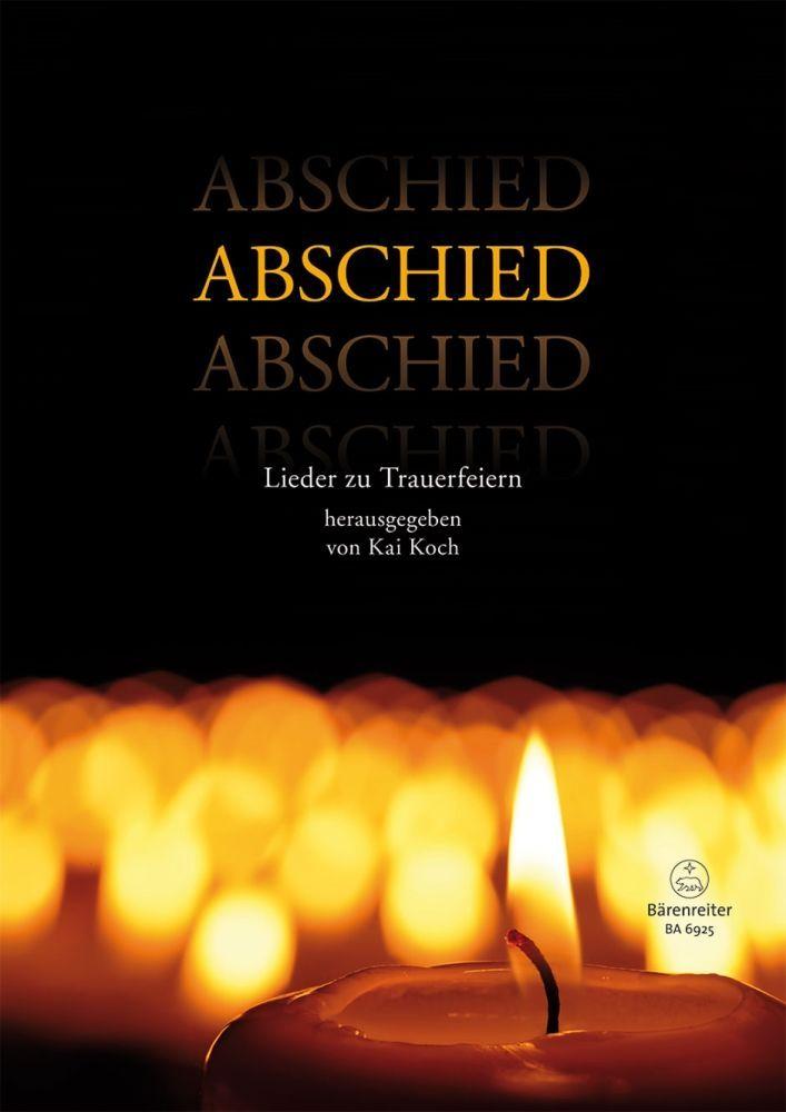 Noten Abschied - Lieder zur Beerdigung Bärenreiter KGV BA 6925 zu Trauerfeiern