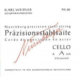 Karl Weidler Cello 4/4 C Saite Stahl mittel