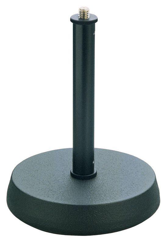 K&M 23200 Tischmikrofonstativ mit Gussrundfuß, schwarz