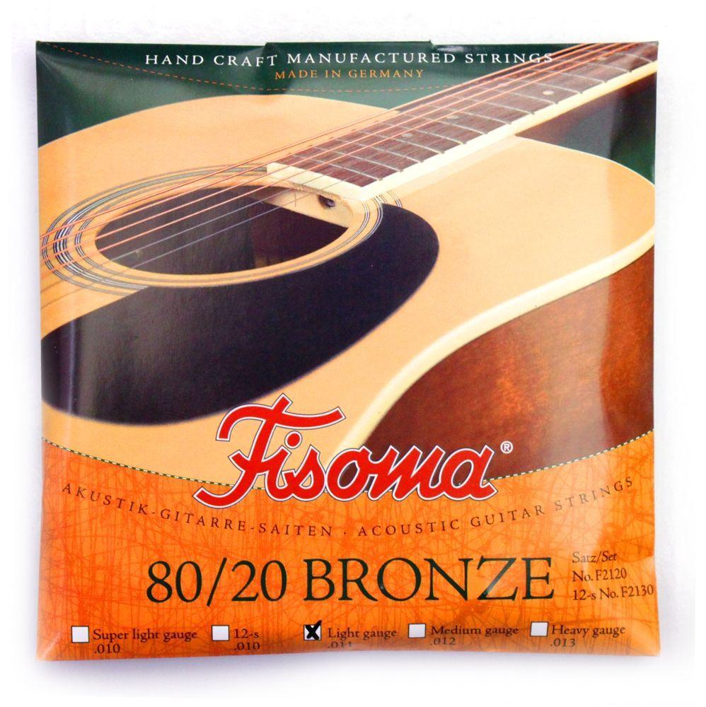 Fisoma F2120 Akustik Saiten Phosphorbronze umsponnen 6 Strings, 011-.047