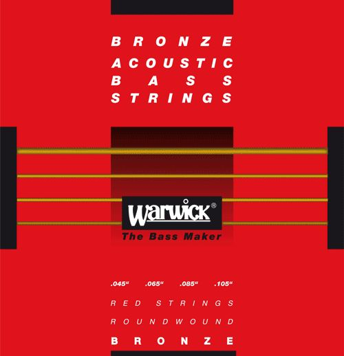 Warwick Akustik-Bass Saiten Red Bronze