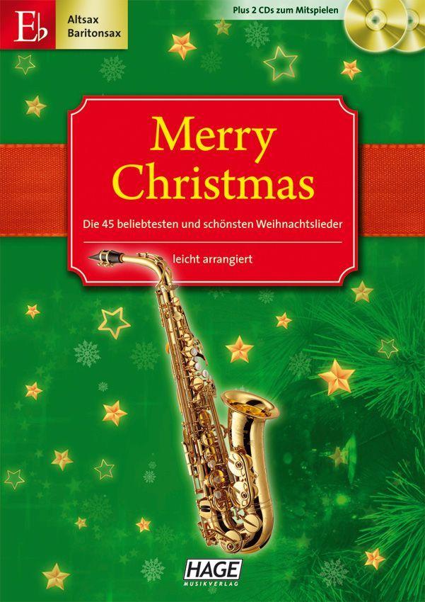 Noten Merry Christmas 45 alte & neue Weihnachtslieder HAGE eh 1082
