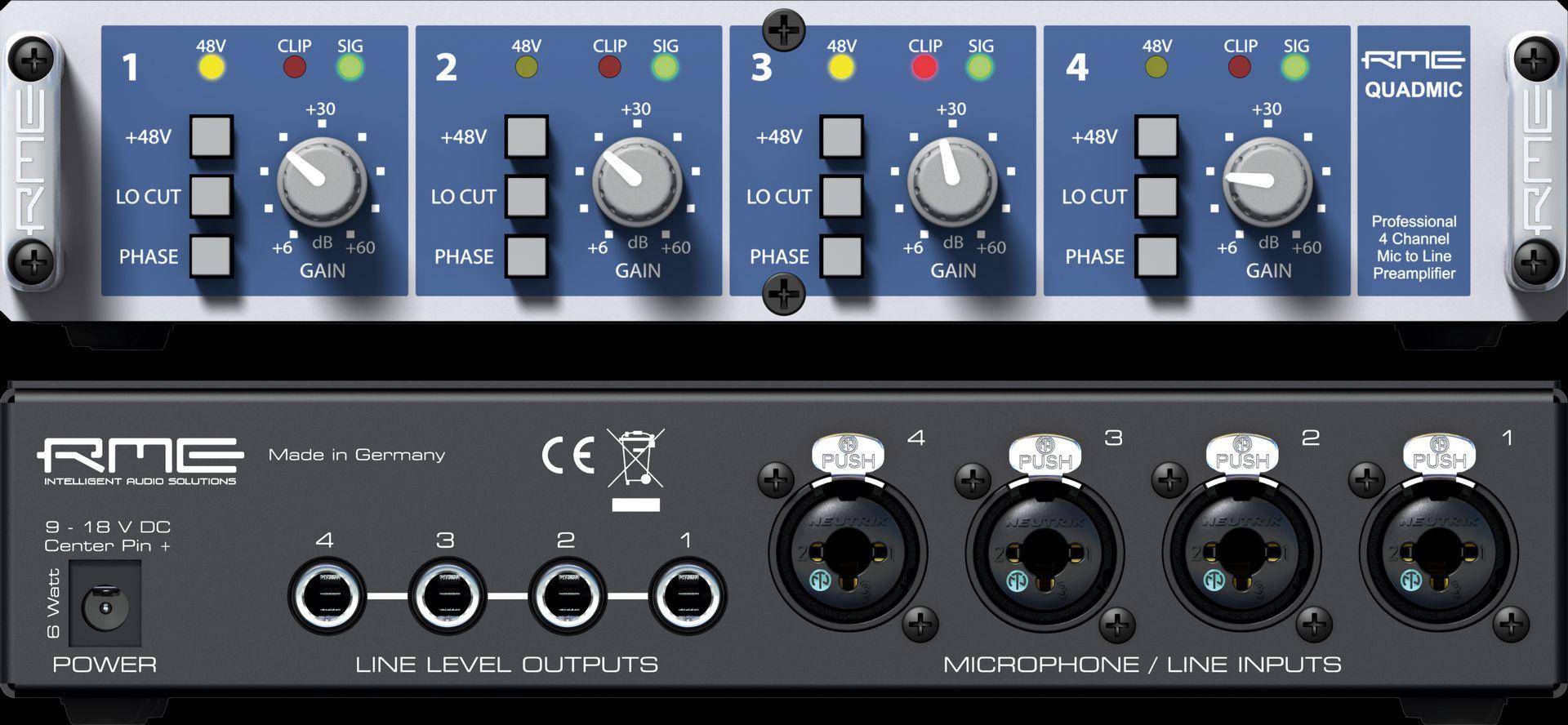 RME QuadMic ll Mikrofonvorverstärker 4-Kanal