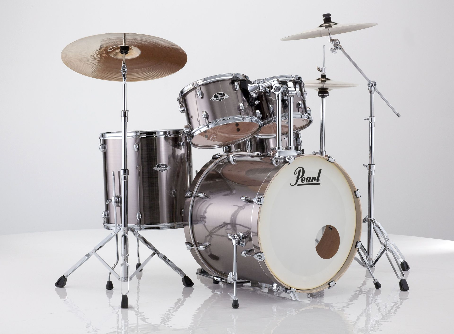 Pearl Export EXX705NBR/C21 Drumset smokey chrome 20/10/12/14/ Snare