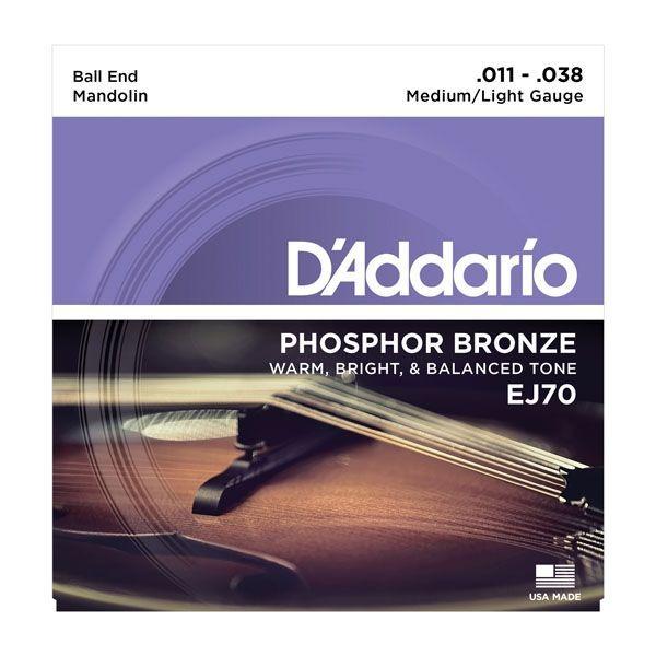 D'Addario EJ70 Mandolinen-Saiten mit Ball Ends 011-038