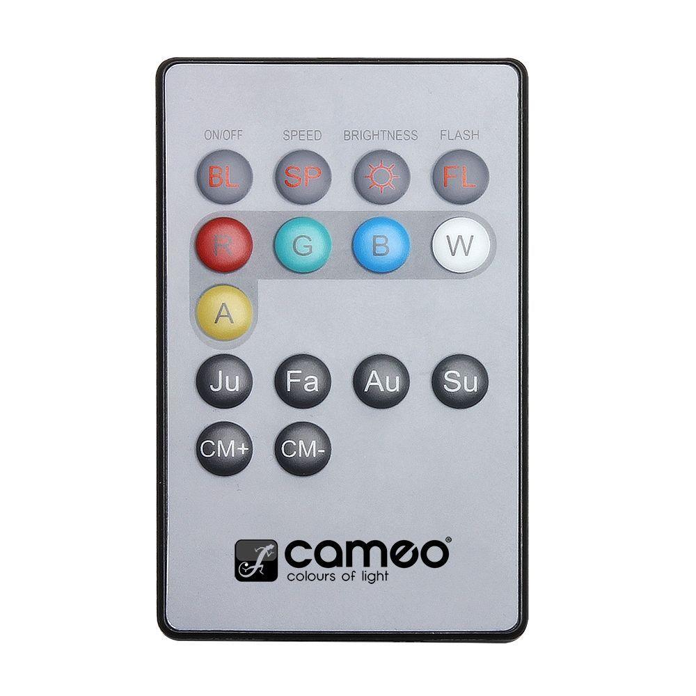 Cameo Flat Par Can REMOTE - Infrarot Fernbedienung für FLAT PAR CAN Scheinwerfer