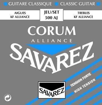 Savarez 500AJ Corum Alliance Nylonsaiten-Satz Konzertgitarre HighTension blau