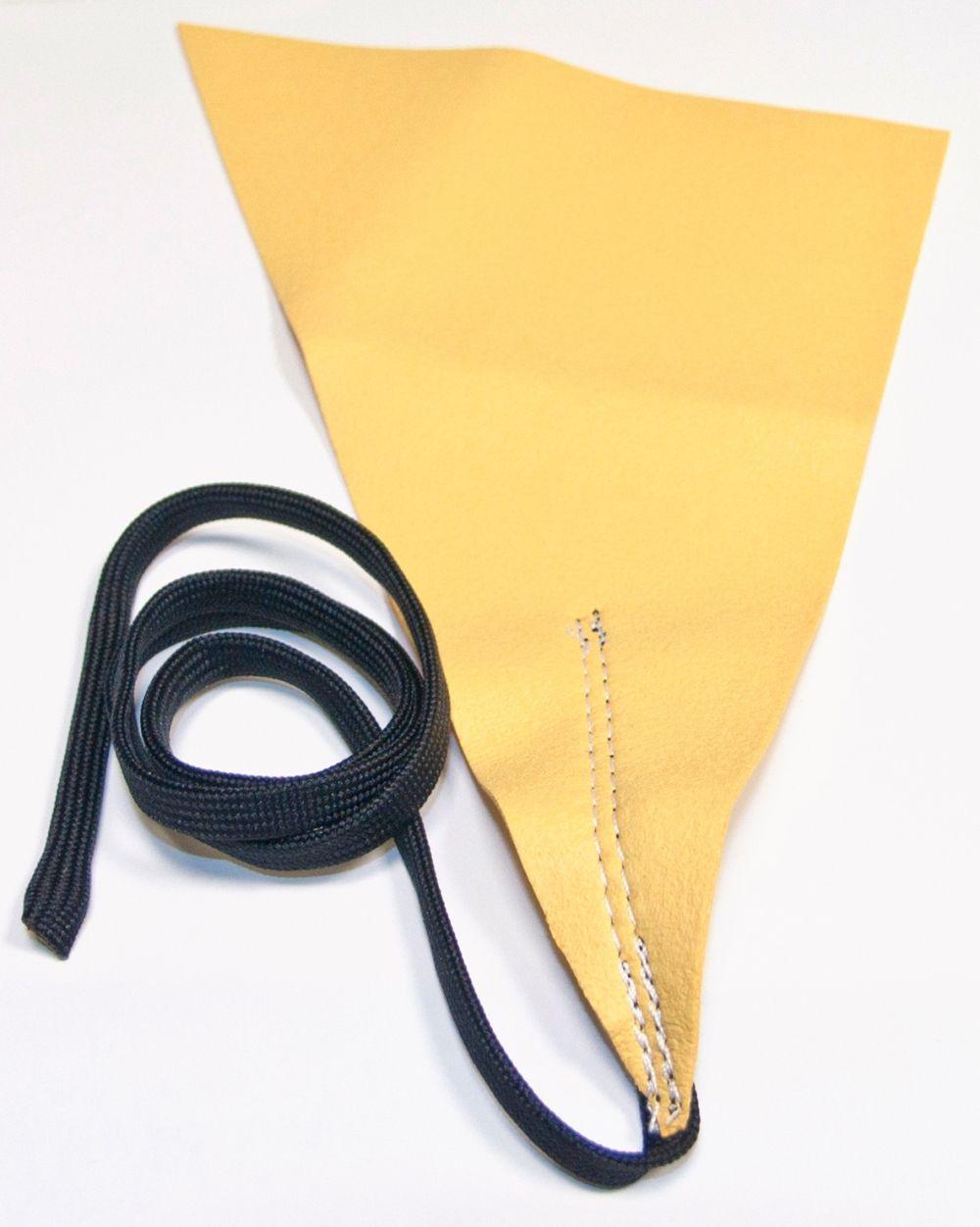 Wischer für Klarinette saugfähiges Spezialgewebe mit Schnur und Gewicht