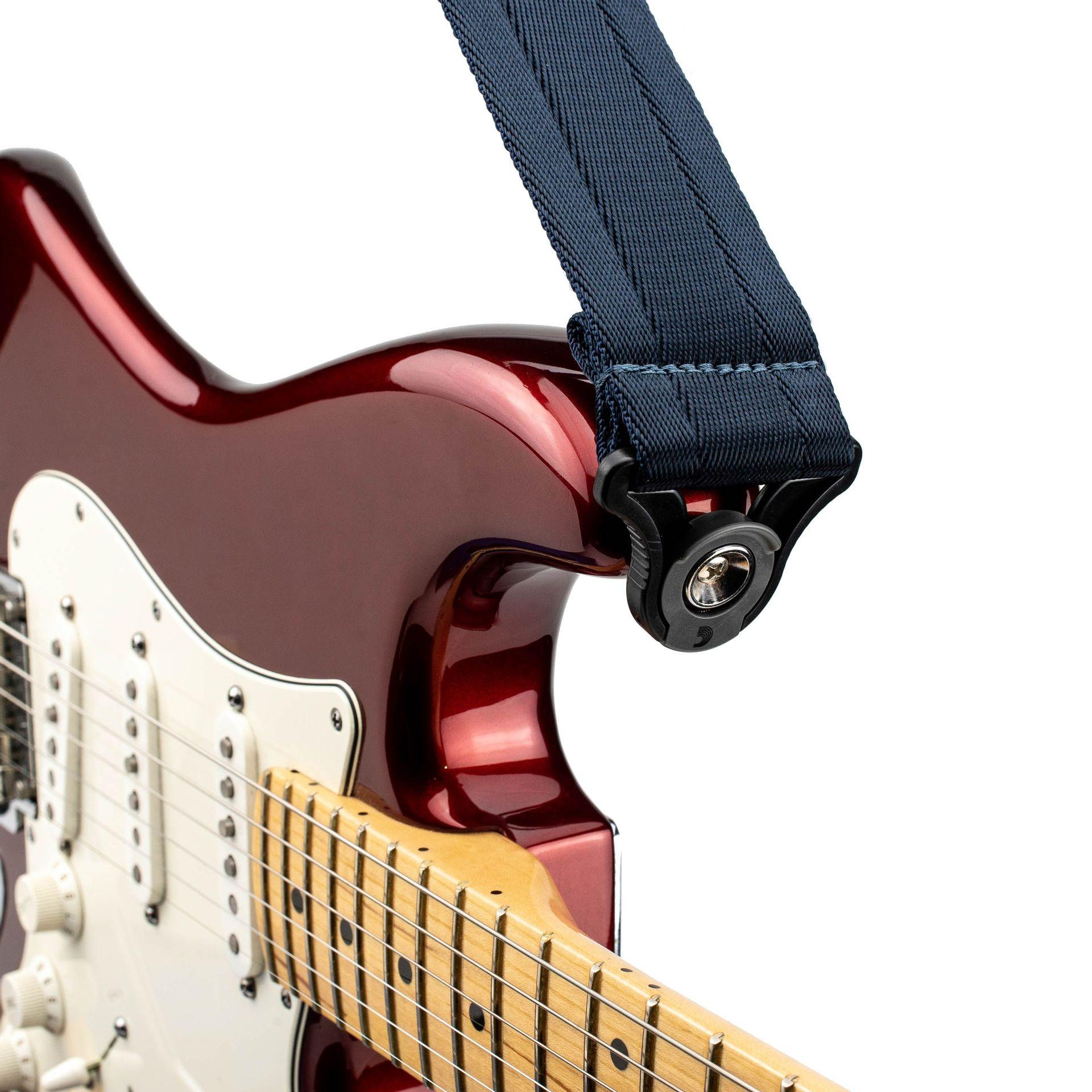 D'Addario Auto Lock Guitar Strap Midnight 50BAL10