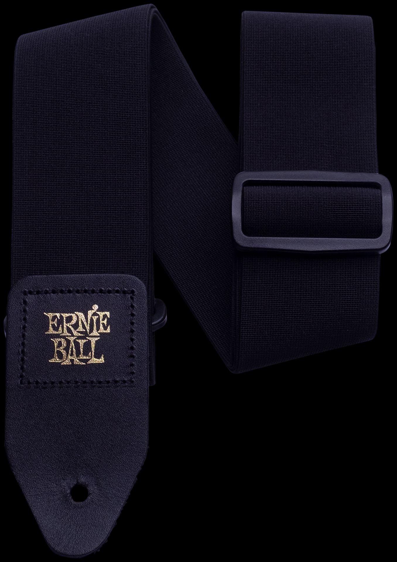 Ernie Ball EB4143 Stretch Comfort Gurt für Gitarre Black