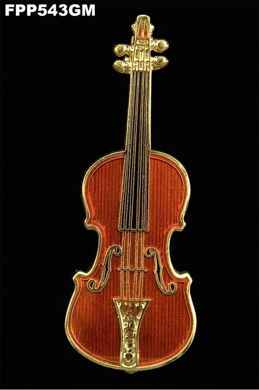 Anstecker Violine FP-Schmuck #543 Musikergeschenke Musikerschmuck