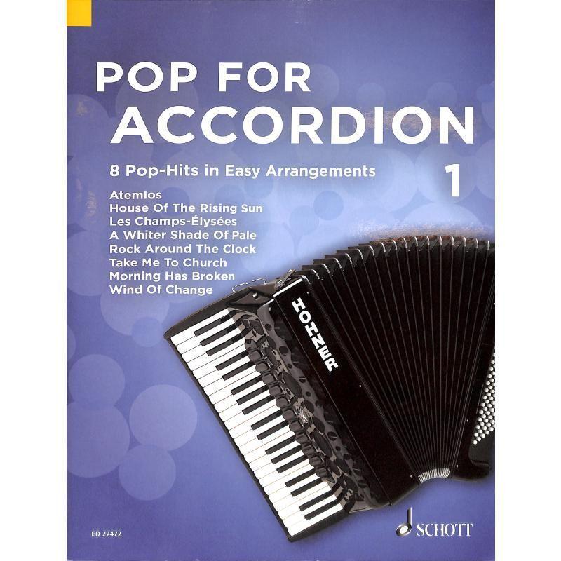 Noten Pop for Accordion 1 Akkordeon Schott ED 22472