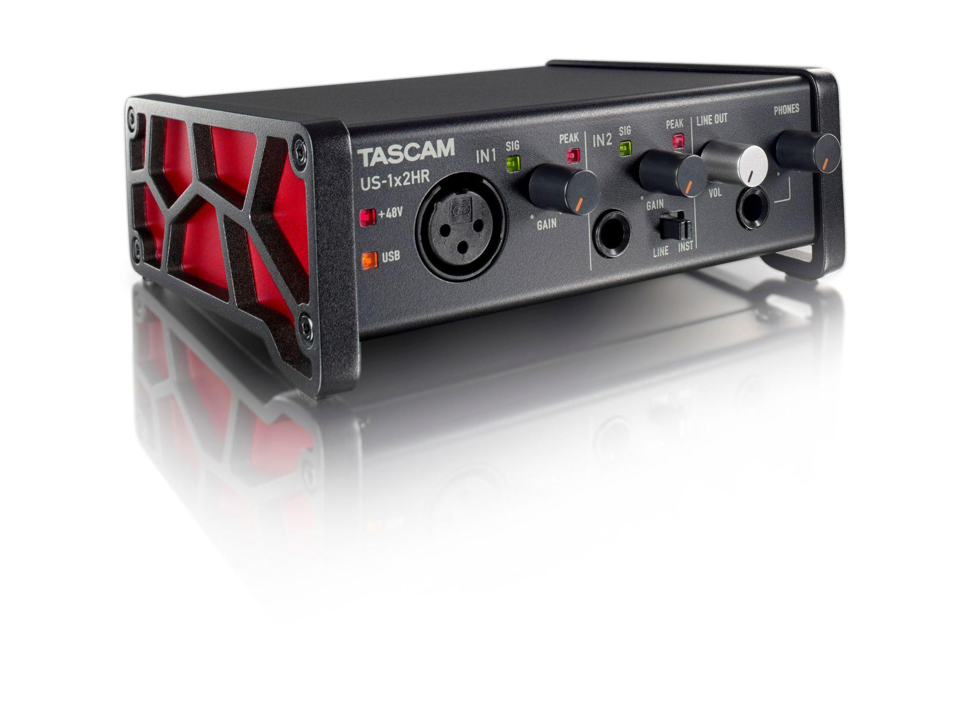 Tascam US-1x2HR USB Audio Interface 2-Kanal mit 1 Mikrofon- und 1 Line-Eingang