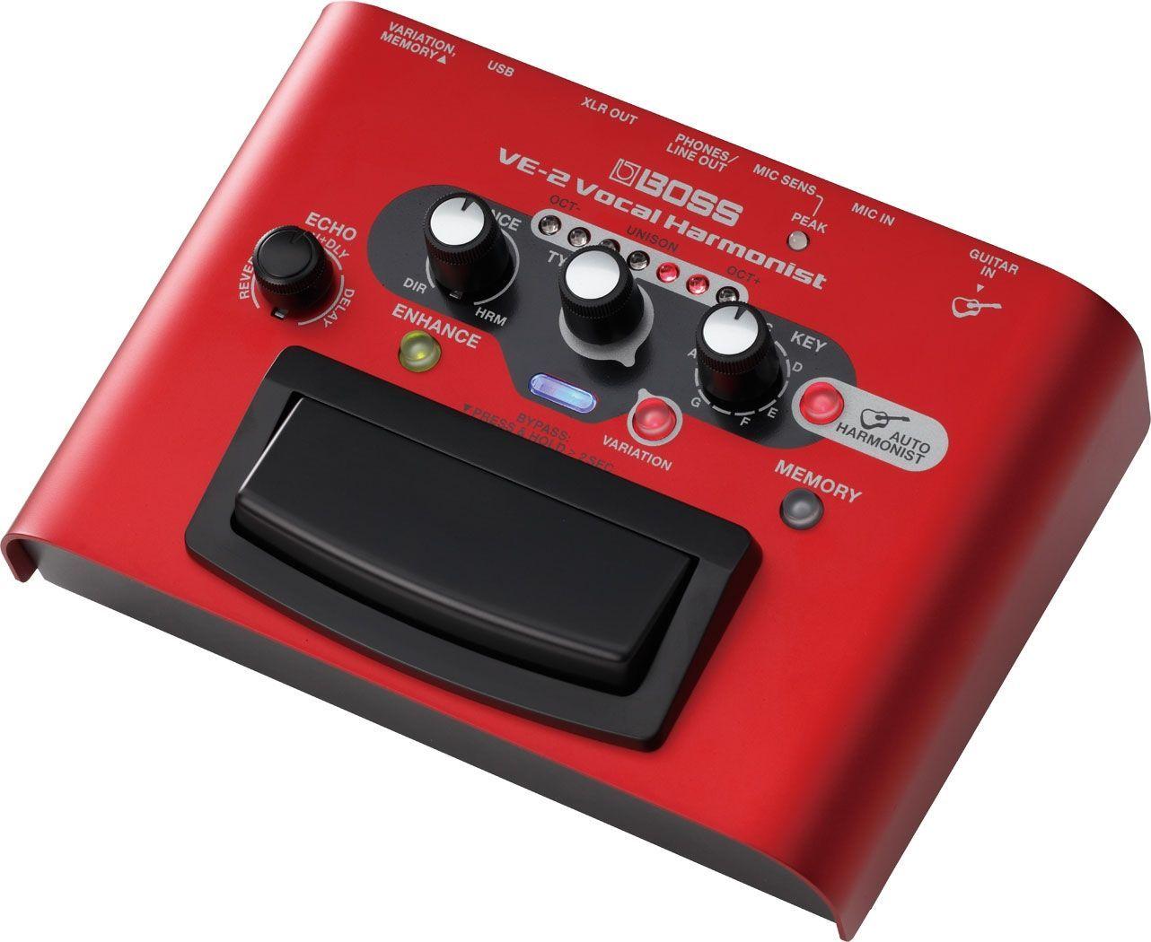 Boss VE-2 Vocal Harmonist Vocal Effektgerät mit USB Audiointerface