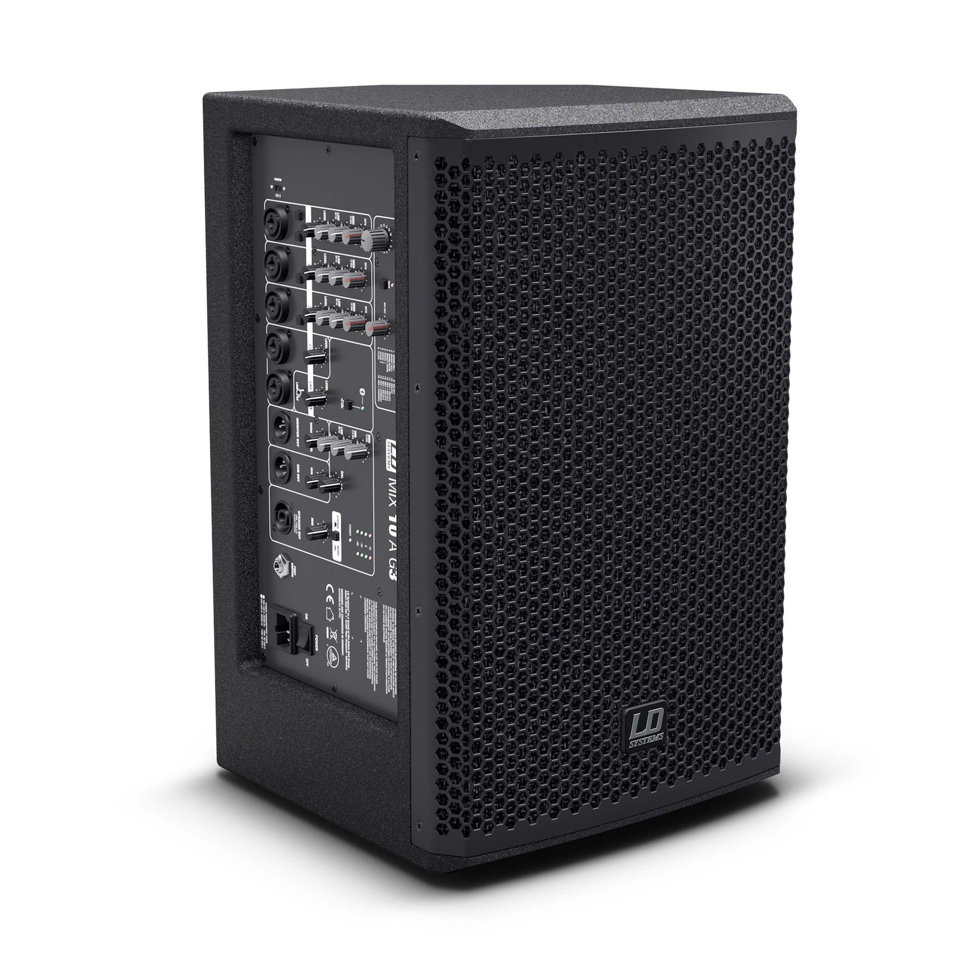 LD Systems Stinger MIX 10 A G3 aktive PA-Box mit 7-Kanal Mixer und Effekt