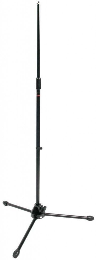 Mikrofonstativ, gerade mit 3-Fuß ohne Galgen, schwarz