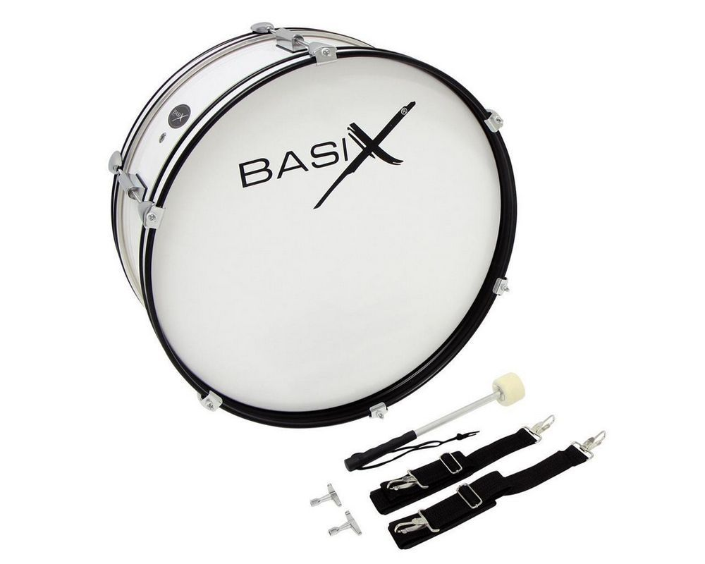 "GEWApure Junior Bass Drum Kindermarschpauke/  Fan-Trommel 22"" x 7"" / Weiss"