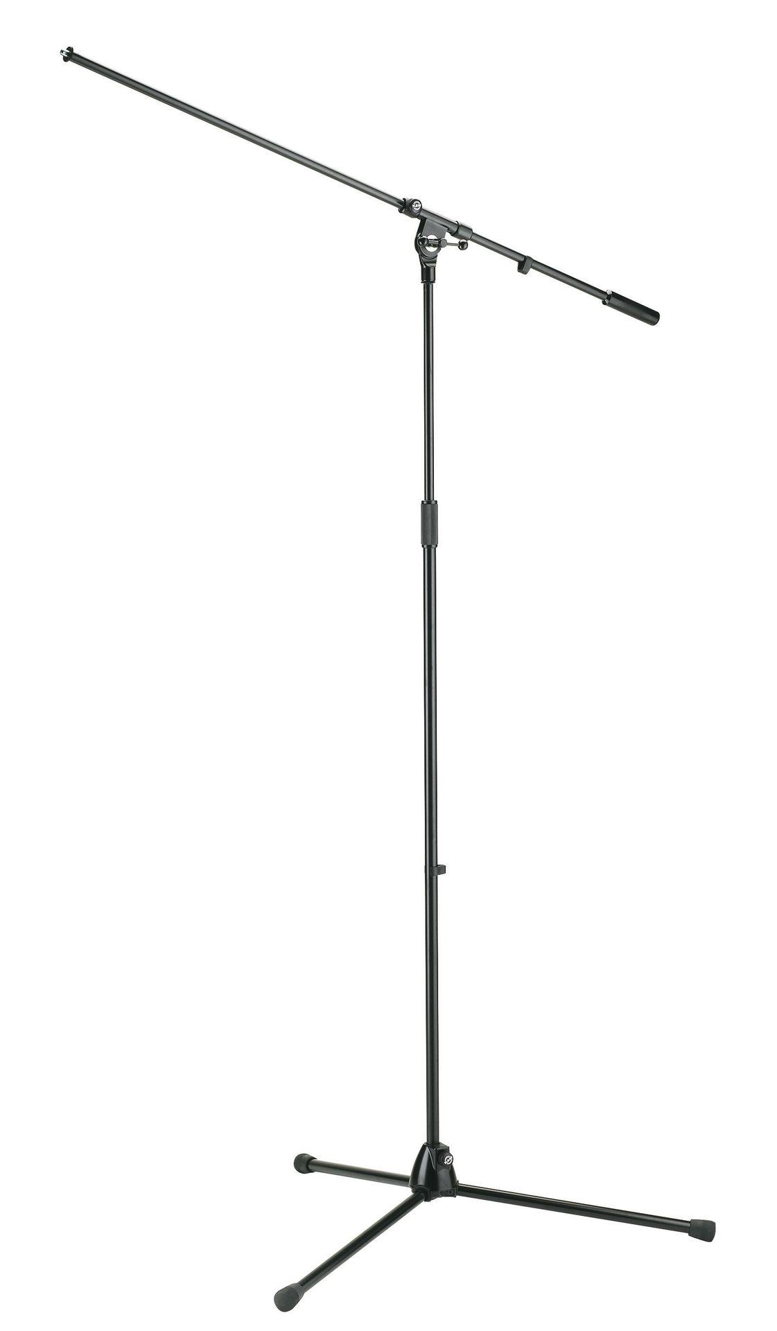 K&M 21021 Mikrostativ mit Schwenkarm, Overhead / Chorabnahme, extrahoch, schwarz