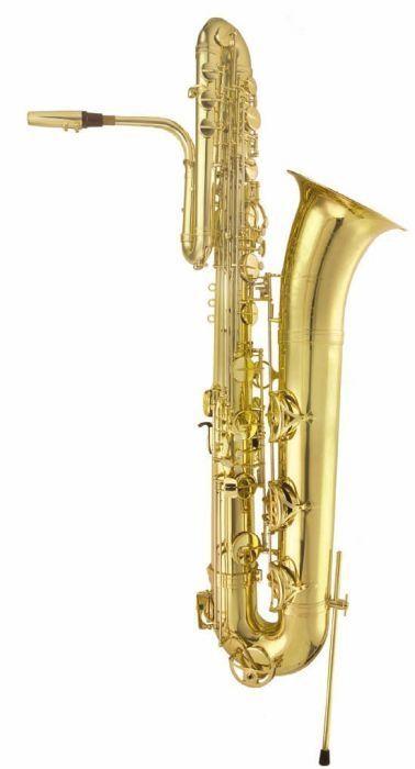 aS- Arnolds & Sons Bass-Saxophon  ABS120, incl. Koffer und Baß-Saxophon-Ständer