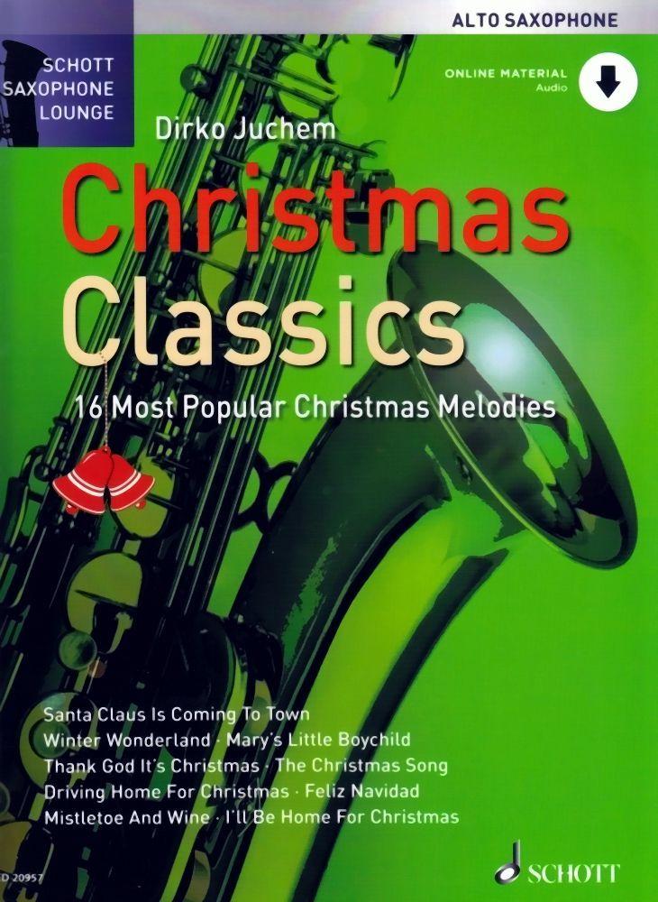 Noten Christmas classics Weihnachten für Altsaxophon incl.download Code ED 20957