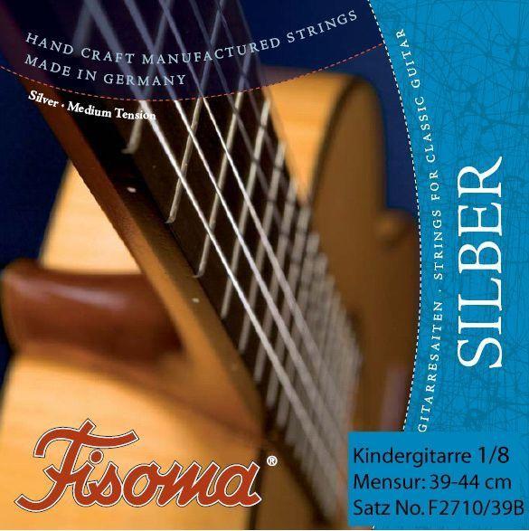 Fisoma Saiten Guitalele und 1/8 Konzertgitarre Kinder-Gitarre, Mensur 39-44cm,