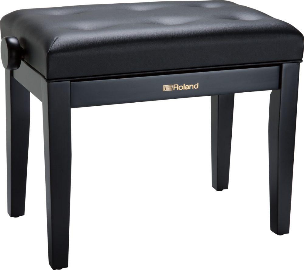 Klavierbank schwarz matt, höhenverstellbar, Sitz Vinyl schwarz, Pianobank