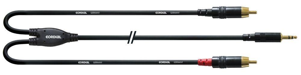 Cordial CFY 6 WCC, 6m, 3,5mm Stereo Klinke2x Cinch male Insertkabel