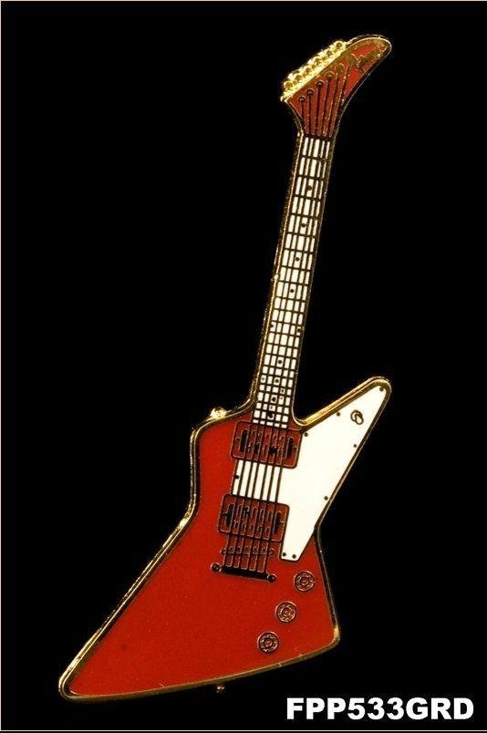 Anstecker E-Gitarre Heavy-Type FP-Schmuck #533 Musikergeschenke Musikerschmuck