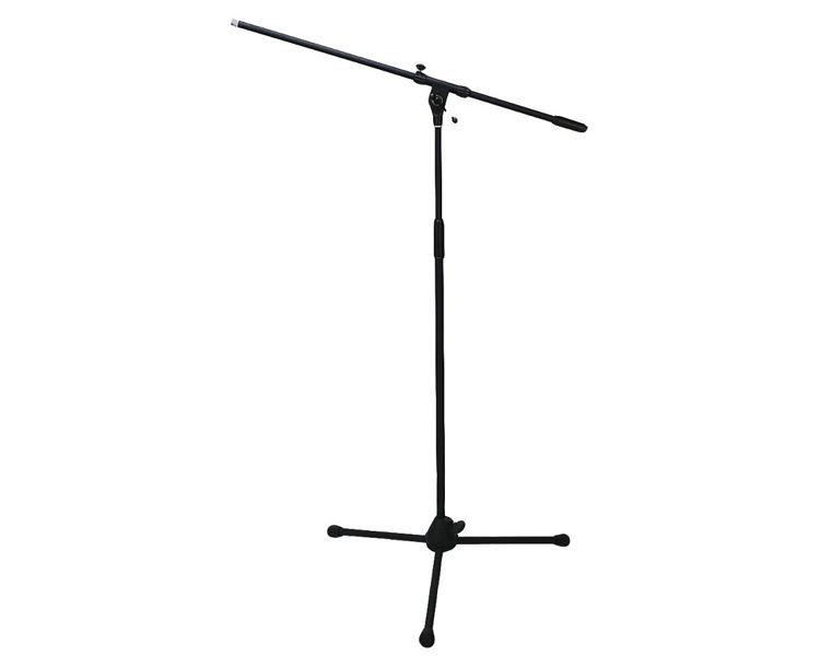 Mark Mikrofonstativ mit Schwenkarm, 3-Fuß klappbar, schwarz